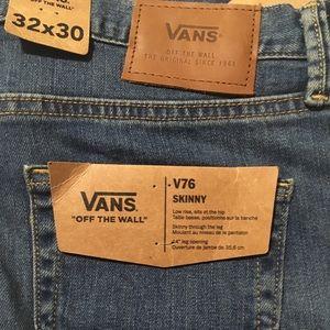 NWTS Vans Jeans V76 Skinny Size 32x30